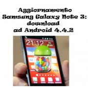 Aggiornamento Samsung Galaxy Note 3: download ad Android 4.4.2