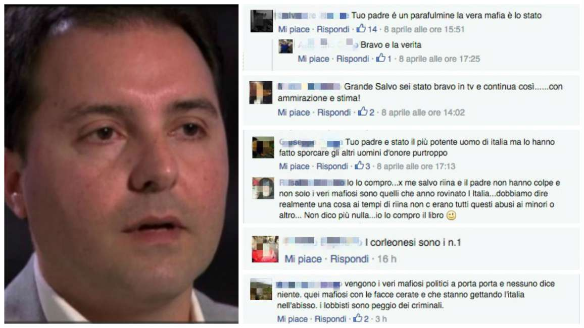Facebook e l'apologia di Riina Jr