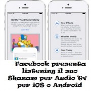 Facebook presenta listening il suo Shazam per Audio e Tv per iOS o Android