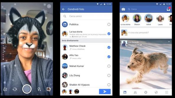 Facebook si rinnova introducendo Storie anche in Italia