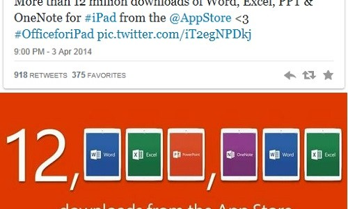 Office gratis per iPad: boom di download in 7 giorni tocca quota 12 milioni