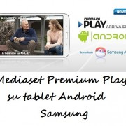 Mediaset Premium Play su tablet Android Samsung
