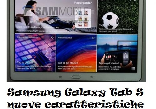 Samsung Galaxy Tab S nuove caratteristiche mostrate in anteprima