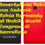 Smartphone Nokia con Android: Nokia Normandy al Mobile World Congress di Barcellona
