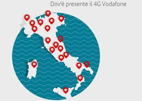 Vodafone 4G padrona d'Europa è disponibile in 45 Paesi