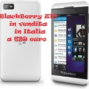 BlackBerry Z10 in vendita in Italia a 699 euro