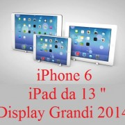 "iPhone 6 ed iPad da 12,9 "": Display Grandi nel 2014"