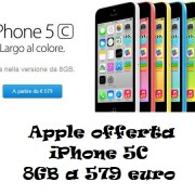Apple offerta iPhone 5C 8GB a 579 euro
