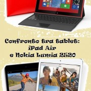 Confronto tra tablet: iPad Air e Nokia Lumia 2520